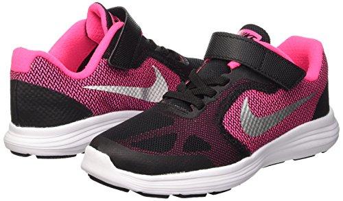 NIKE Kids' Revolution 3 Running Shoe (PSV), Black/Metallic Silver/Hyper Pink/White, 1.5 M US Little Kid by Nike (Image #6)