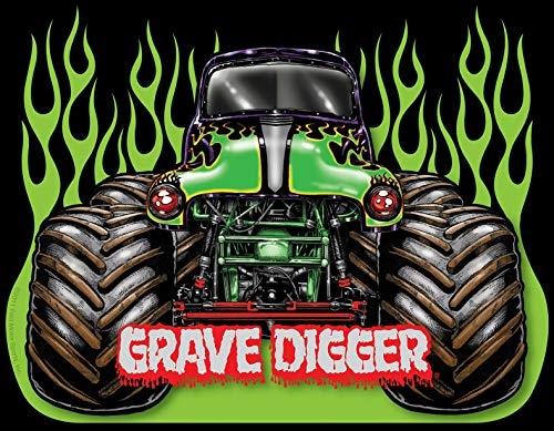 Monster Truck Jam Grave Digger Iron On Transfer for T-Shirts & Other Light Color Fabrics #1 Divine Bovinity (Monster High Iron On)