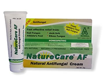 Antifungal Athletes Foot Cream  Nail fungus  Organic, all natural, non-GMO   NatureCare by Rowell