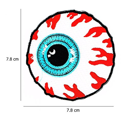 MISHKA EYEBALL SKATEBOARD PATCHES EMBROIDERED (2 (Masonic 2 Heel)