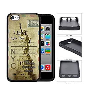 Statue Of Liberty Postcard New York Hard Silicone PC Cell Phone Case Case For Iphone 5/5S Cover