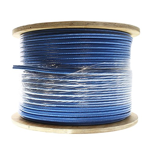 (Commscope 4672004/10 UH68120 Hybrid Combination Cable - RG-6 and CAT6 for CATV & Data, Category-6, 1000-Feet, Blue )