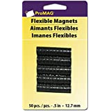 ProMag Flexible Round Magnets, 0.5-Inch, 50-Pack