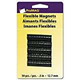 """ProMag 457450 457450 Flexible Round Magnets, 0.5"""", 50 Pack"""