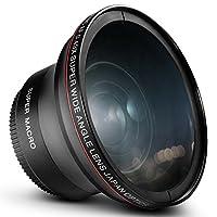 Lente Gran Angular HD Photo 58MM 0.43x Altura (con macro porción) para Canon EOS Rebel 77D T7i T6s T6i T6i T5i T5i T3i SL2 60D 7D 70D