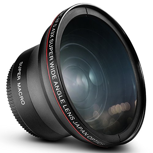 58MM 0.43x Altura Photo Professional HD Wide Angle Lens (w/Macro Portion) for Canon EOS Rebel 77D T7i T6s T6i T6 T5i T5 T4i T3i T3 SL1 1100D 700D 650D 600D 550D 300D 100D 60D 7D 70D