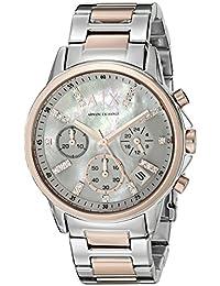 Armani Exchange Women's AX4331 Lady Banks Analog Display Analog Quartz Silver Watch