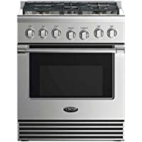 DCS Professional Series RDV2305N 30 5 Burner Stainless Steel Dual Fuel Range - Natural Gas