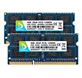 DUOMEIQI 8GB Kit (2 X 4GB) 2RX8 PC3L-12800S DDR3L 1600MHz SO-DIMM CL11 204 Pin 1.35V / 1.5V Non-ECC Unbuffered Notebook Memory Laptop RAM Module Compatible with Intel AMD and Mac System