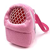 Alfie Pet by Petoga Couture - Ricki Travel Carrier Vacation House for Small Animals like Dwarf Hamster and Mouse - Color: Pink, Size: Small