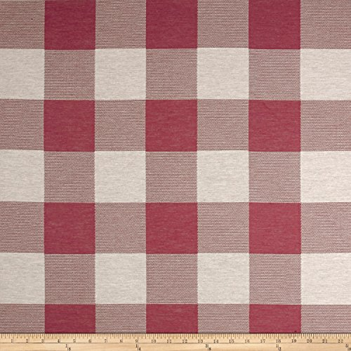 ARTISTRY Buffalo Check Jacquard Pink Fabric by The Yard