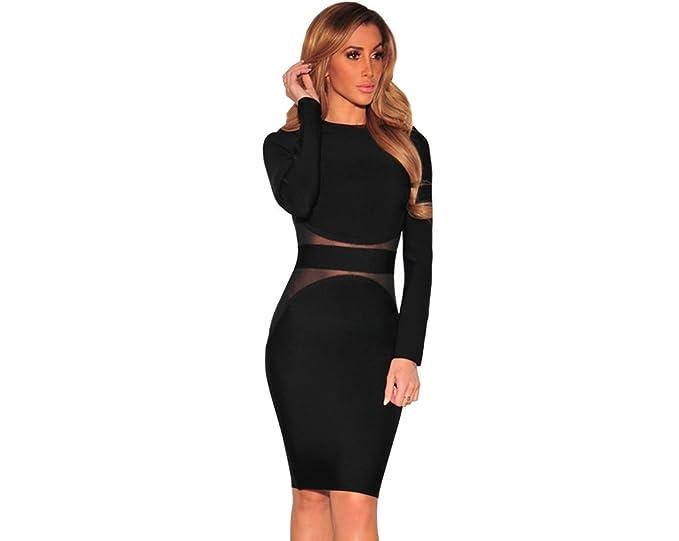Vestidos Ropa De Moda 2018 Para Mujer De Fiesta y Noche Elegante VE0017 at Amazon Womens Clothing store: