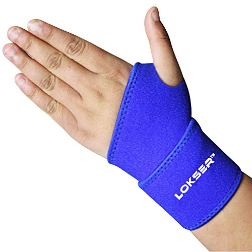 Professional Adjustable Weight System (Wrist support Strap Brace By LOKSER | Best for Wrist & Hand Pain | Fits Both Left and Right hand | for Gym, Basketball, Baseball, Weightlifting | Unisex, Adjustable & Top Quality (Blue))