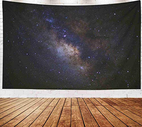 Fullentiart Wall Tapestry, Map Large Tapestry Wall Hanging 80x60inch Milky Way Galaxy Long Exposure Photograph Grain Decoration Room Holiday Décor Tapestries
