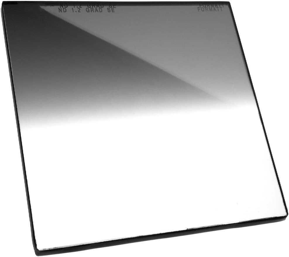 for video Formatt Hitech Glass 5.65x5.65 144x144mm Neutral Density Grad 1.2 Soft Edge broadcast and film production compatible with all 5.65x5.65 matte boxes 4 stops