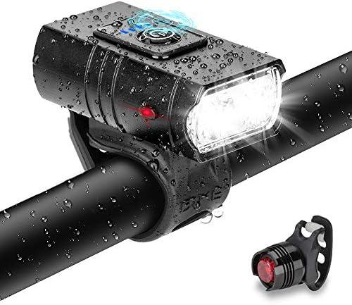 [スポンサー プロダクト]自転車ライトLinkax USB充電式LED自転車ヘッドライト 大容量2000mAh 6つ調光モード 懐中電灯兼用 アルミ合金製 テールライト付き