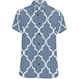 InterestPrint Men Botton Up T-Shirt Whale Tail Boho Style Regular Fit Short Sleeve Polo Casual T-Shirts