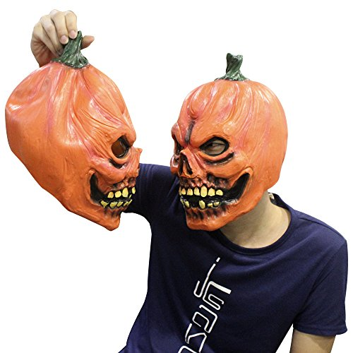 Pumpkin Latex Head Costume Mask Halloween Cosplay Masquerade Mascot Decorations