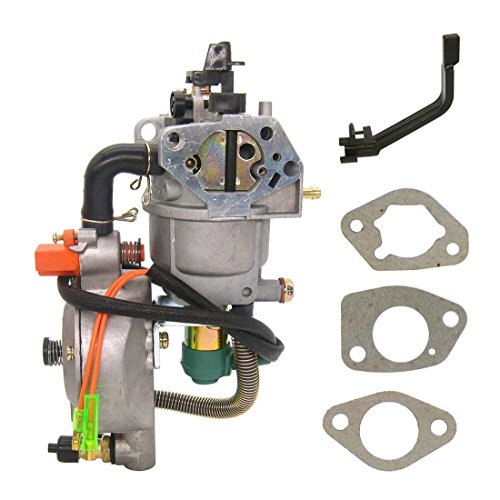 Fuerdi Dual Fuel Carburetor with Manual Choke LPG CNG Conversion KIT for Gasoline Generator 4.5-5.5KW GX390 188F Carburetor ()