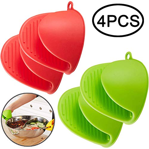 - TIHOOD 4PCS Mini Oven Mitts Gloves Silicone Heat Resistant Cooking Pinch Mitts Potholder for Kitchen Cooking & Baking