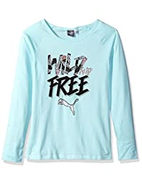 PUMA Girls Girls' Long Sleeve T-Shirt and Headband