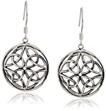 Celtic-Knot Round Drop Dangle Earrings