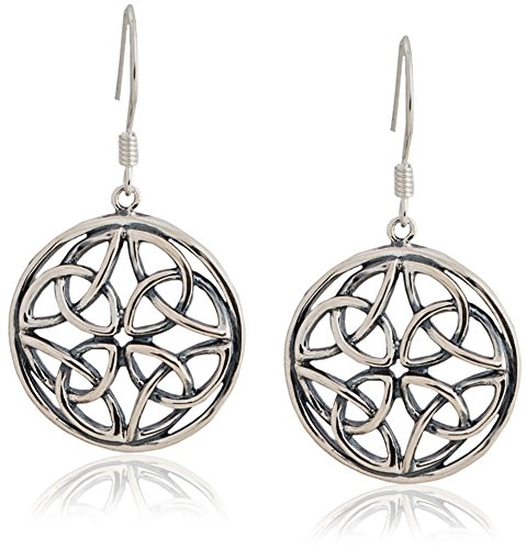 - Celtic-Knot Round Drop Dangle Earrings (Large) | SPUNKYsoul Collection