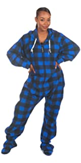 Forever Lazy Footed Adult Onesies One-Piece Pajama Jumpsuits for Men and Women Unisex