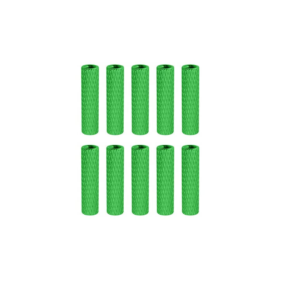 10 Pieces HobbyPark Aluminum M3x20mm Standoff Spacer Female-Female Round Column for RC Quadcopter Parts DIY Green 2