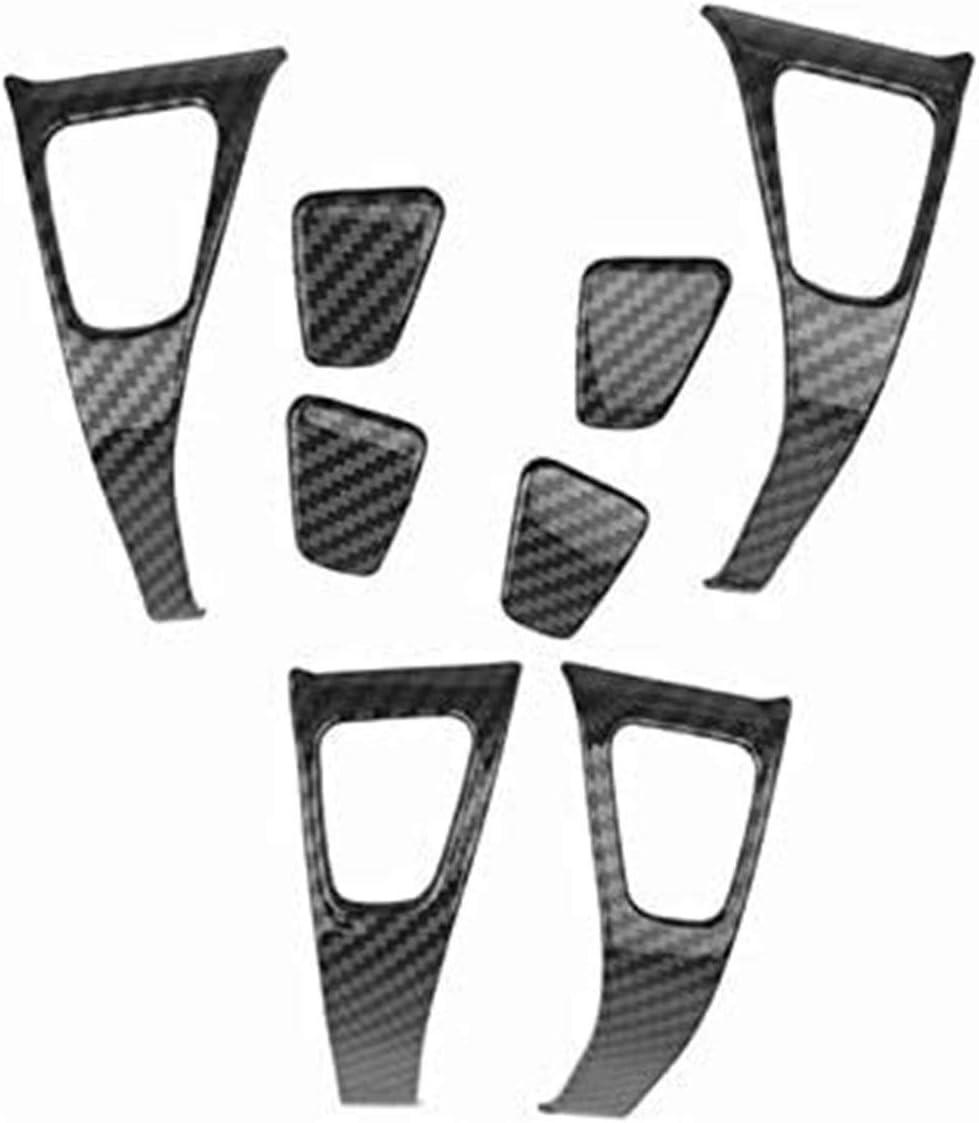 Poign/ées de porte ext/érieures 8Pcs voiture int/érieure porte fen/être Accoudoirs Bouton Soulevez le couvercle for garniture Kit Tesla Model 3 2018 2019 Fen/être Soulevez le couvercle Garniture