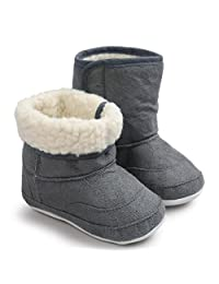 ANBOO Warm Baby Toddler Boots Soft Sole Snow Boots Crib Shoes