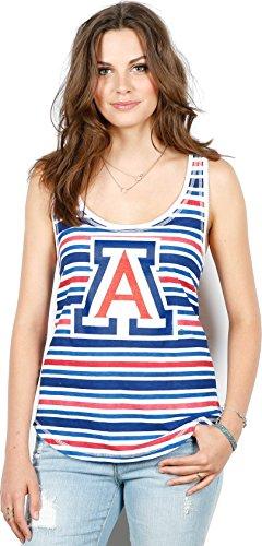 NCAA Arizona Wildcats Faded Stripe Tank, Small, Multicolor