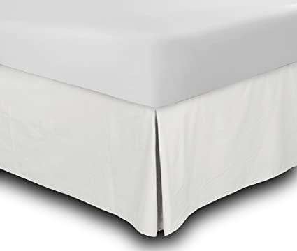 Amazon Com Bed Skirt Full White 15 Inch Fall Hotel Quality