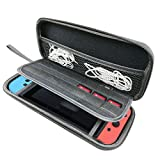 Qorol Nintendo Switch Hard Carry Case with 14 Game Cartridge Holders - Black