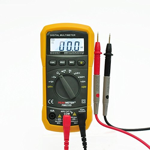 Digital Multimeter, PEAKMETER PM8233D Auto-Ranging Digital Multimeters AC DC Non Contact Voltage Tester Electric LCD DMM Ohmmeter Electric Frequency/Resistance Tester Meter with Test Leads Orange
