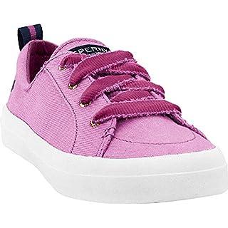 Sperry Women's Crest Vibe Vintage Twill Sneaker, Berry, 5