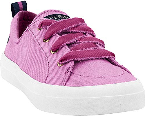 Sperry Women's Crest Vibe/Discontinued Sneaker, Berry Twill, 5