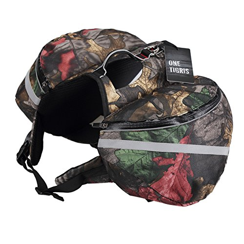 OneTigris Camo Saddle Dog Backpack - Waterproof Lightweight - Camo Dog Backpack