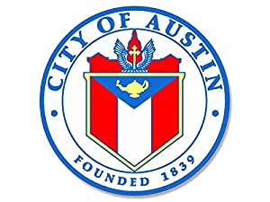 Amazon Com Round City Of Austin Texas Seal Tx Limits