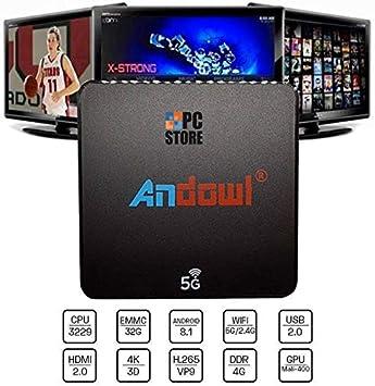 Smart TV Box Q-M6 Android 8.1 4K DDR 4 GB RAM 32 GB ROM IPTV WiFi ...