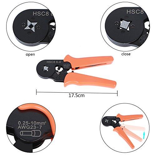 ValueHall 1200pcs Wire Ferrules Crimper Plier Set, Professional Laborsaving Crimper Plier for 0.25-6mm² Self-adjustable Ratchet Wire V7001-1 by ValueHall (Image #4)