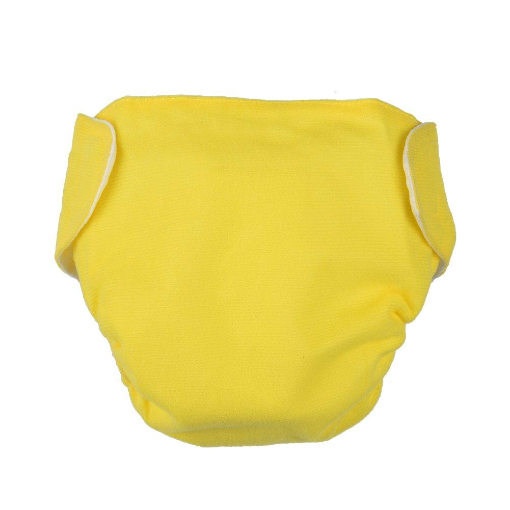 luerme bebé recién nacido pañales de pañales bebé ropa interior gamuza de algodón, ajustable lavable y reutilizable para 0–12meses rosa rosa
