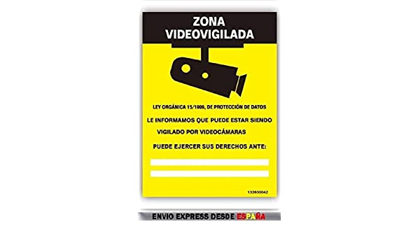 CARTEL SEÑALIZACION SEÑAL AVISO INFORMACION ZONA VIDEOVIGILANCIA: Amazon.es: Bricolaje y herramientas