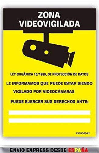 CARTEL SEÑALIZACION SEÑAL AVISO INFORMACION ZONA VIDEOVIGILANCIA