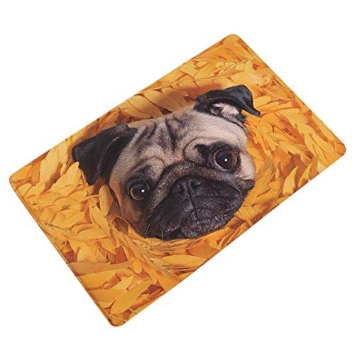 Sothread 40x60cm Soft Non-slip Rectangle Cute Dog Printed Carpet Mats Bath Decor Area Rug -