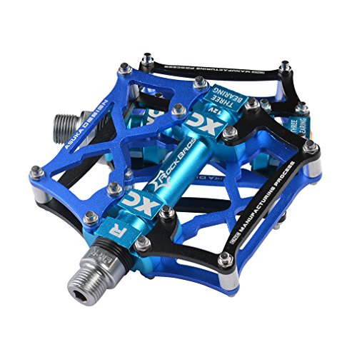 RockBros Mountain Bike Pedals Cycling Sealed Bearing Pedals (Black Blue)