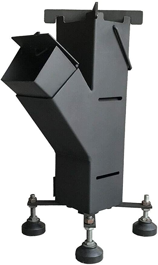 NJ The right choice Estufa de cohete independiente de combustión de madera, para camping, barbacoa, cocina de acero, biomasa al aire libre