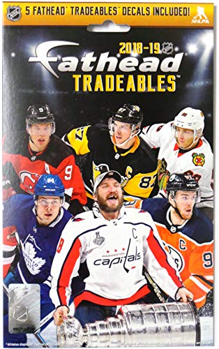 (FATHEAD 2019 NHL Tradeables, Sealed, Unopened Pack - Includes 5 Officially Licensed NHL Player Vinyl Wall Graphic Decals 7