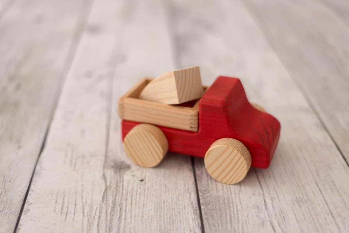 Großer Lastwagen Rot, holzauto, Holz LKW Spielzeug