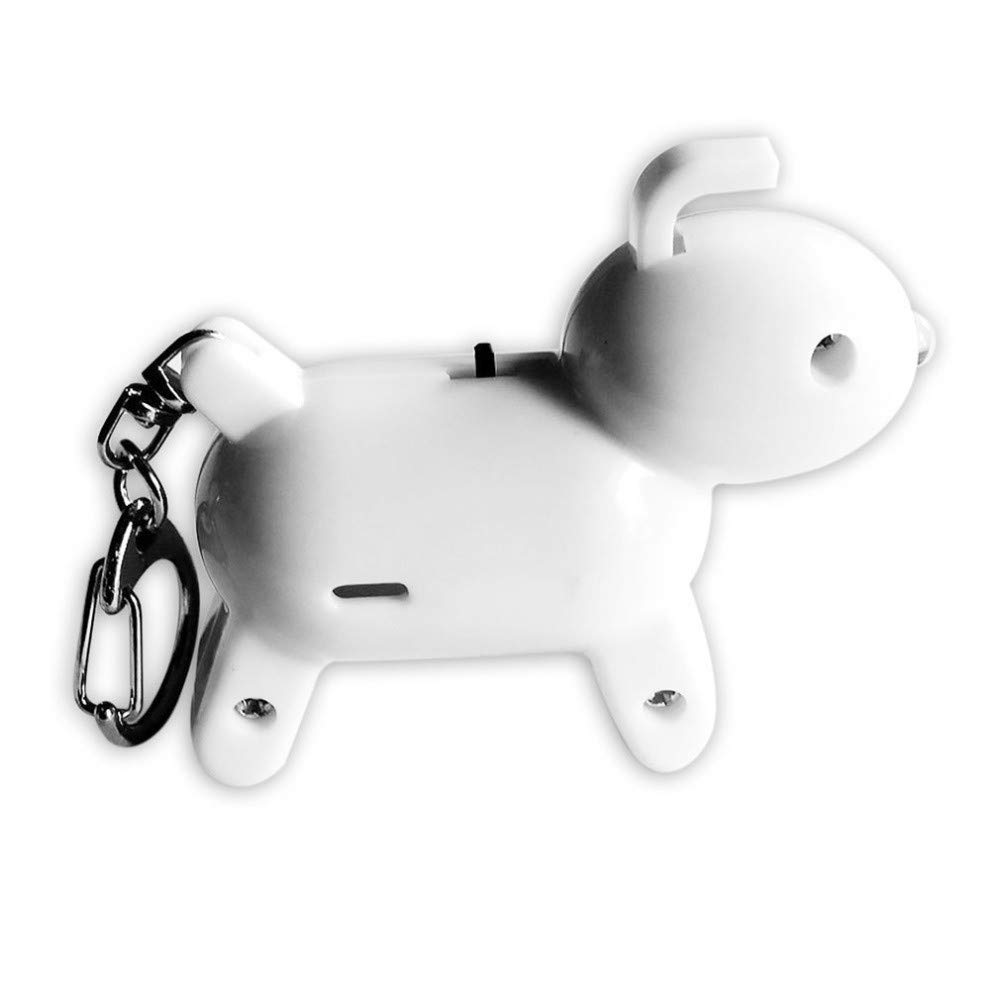 SUKEQ Cute Puppy Shape Finder Bluetooth Tracking Locator Child Pet GPS Locator Alarm Key Tracker for iPhone Android (White)